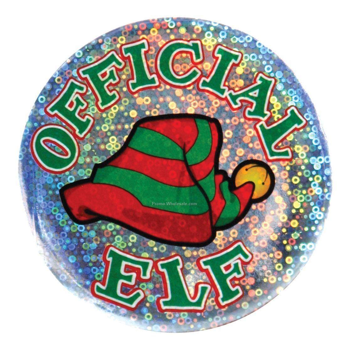 """3-1/2"""" Official Elf Button"""