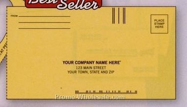 "8-7/8""x3-5/8"" Yellow Doorknob Billing Envelope"