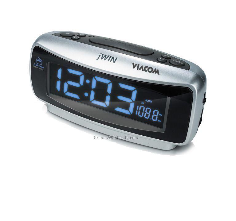 am fm dual alarm clock radio with jumbo bright lcd display. Black Bedroom Furniture Sets. Home Design Ideas