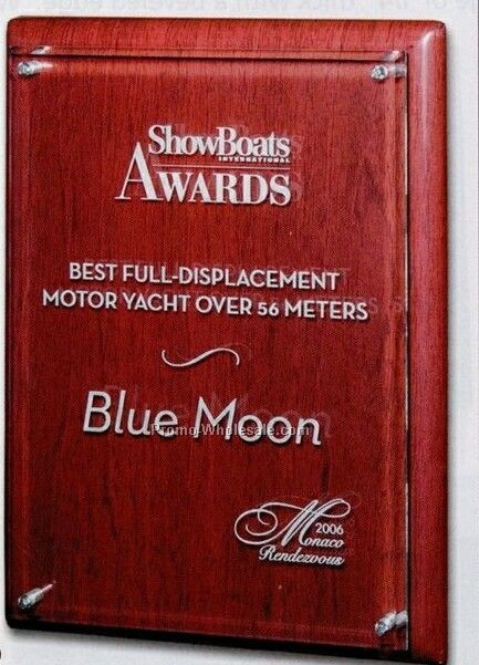 Baby Grand Series Piano Wood & Acrylic Award Plaque (Laser Engraved)