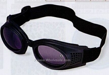 Black Goggles W/ Shock Absorbent Guard & Rubber Frames