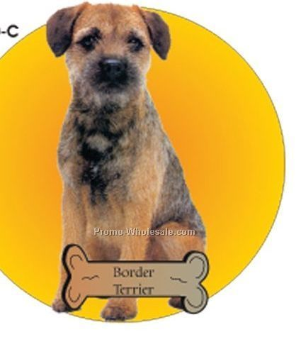 Border Terrier Acrylic Coaster W/ Felt Back