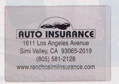 Clear Vinyl Sleeve/ Insurance Card Holder (5-1/2