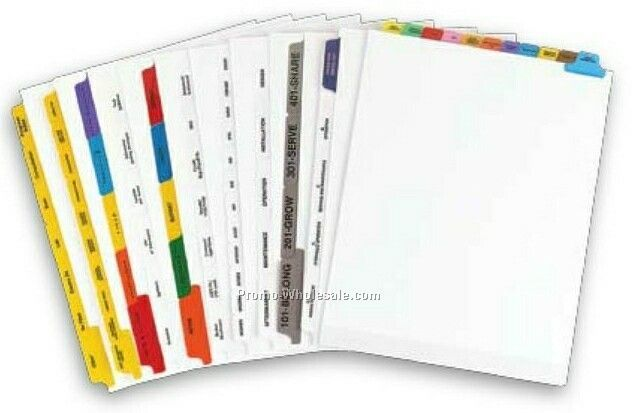 Custom Paper Index Tabs (7 Tabs/Set)
