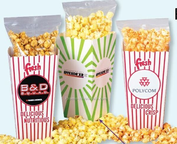 "Empty Open Top Popcorn Boxes - 4-1/2""x4""x8"" (Direct Print)"