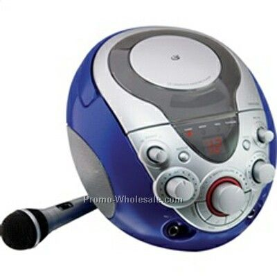 Gpx Portable Cd+g Sing-along Karaoke With Microphone And Dual Mic Jacks