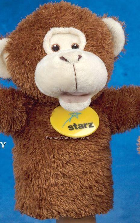 "Handy Logo Monkey Puppets (10"")"