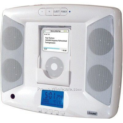 Isound Wall Ipod Dock Speakers & Alarm Clock