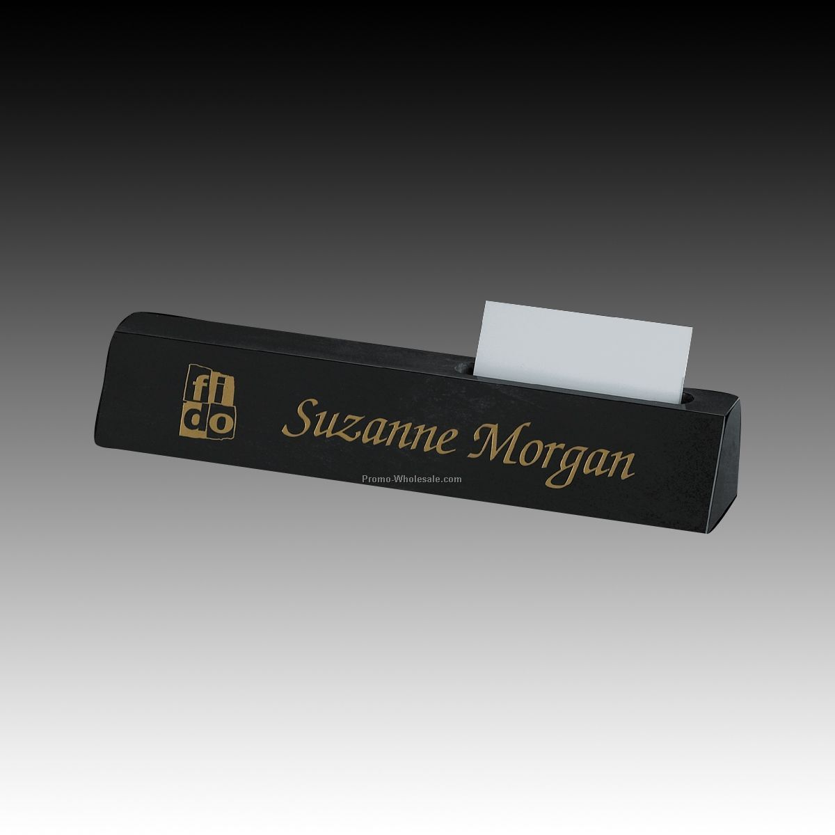 Business Card Holder Desk Name Plate With