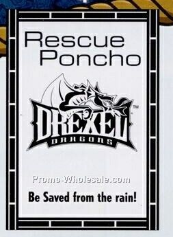 Rescue Poncho Rain Gear-brick Border
