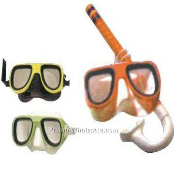 Rubber Kid Diving Sets (Mask And Snorkel)