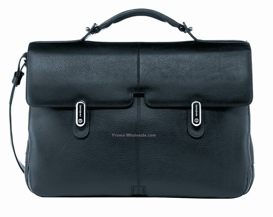High Tech Leather Briefcase 3 Gusset