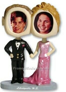 Single Bobble Heads - Bride & Groom