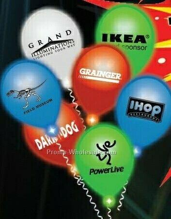 White Lumi Loon Balloon (Blank)