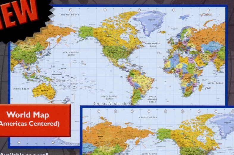 World Map Wall Poster Desk Pad Poster Calendar With