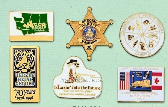 "1-3/4"" Custom Cloisonne Badge / Larger Pin"