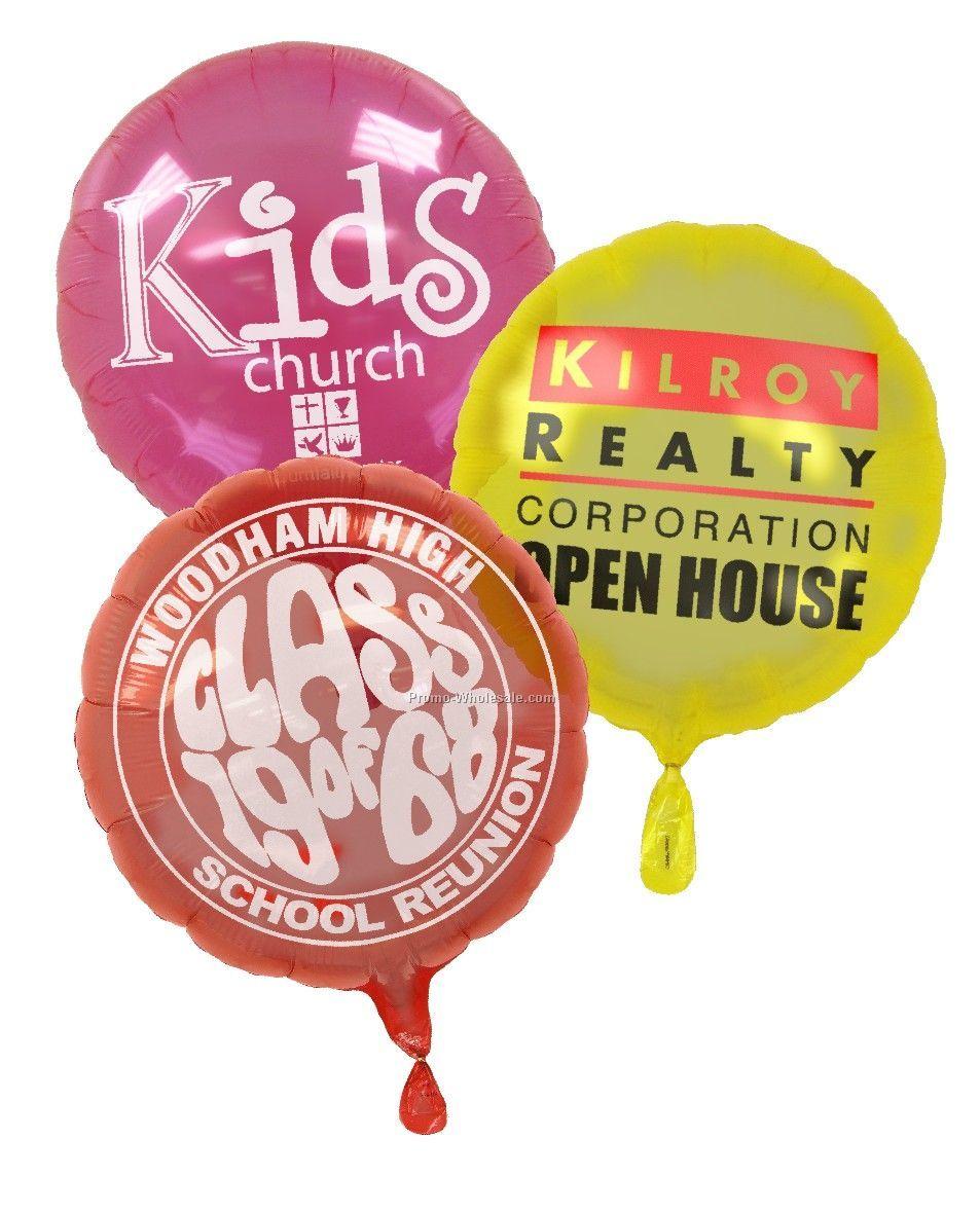 "18"" Translucent Mylar Balloon (Round)"