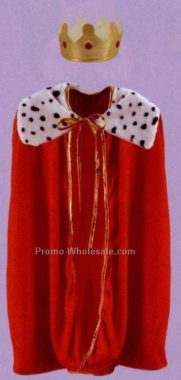 "33"" Child King/Queen Red Robe W/ Crown"