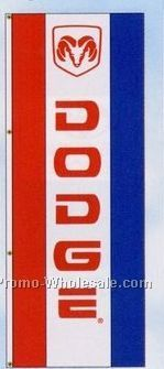 3'x8' Stock Dealer Logo Double Face Drape Flag - Dodge