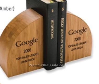 "4""x6""x3"" Bamboo Book Ends (Natural)"