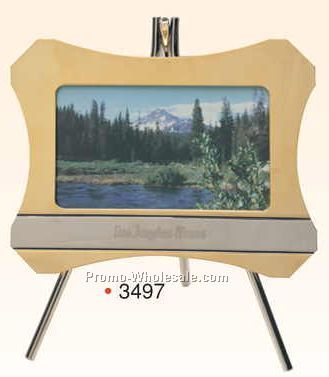 "5-1/4""x7"" Brass Frame W/ Easel (3-1/2""x5"" Photo) (Engraved)"