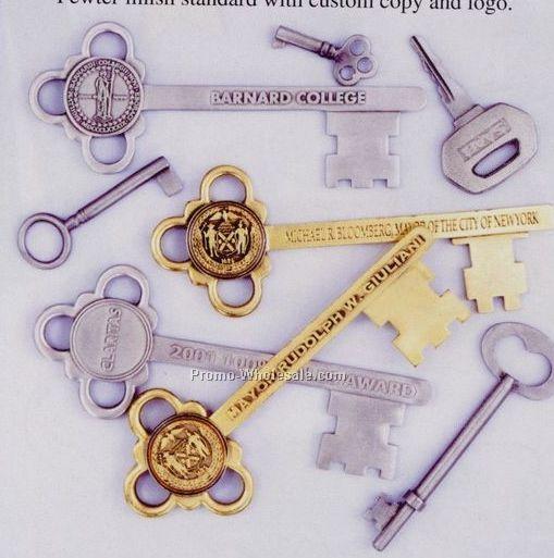 """6"""" Custom Pewter Finish Key Of Honor"""