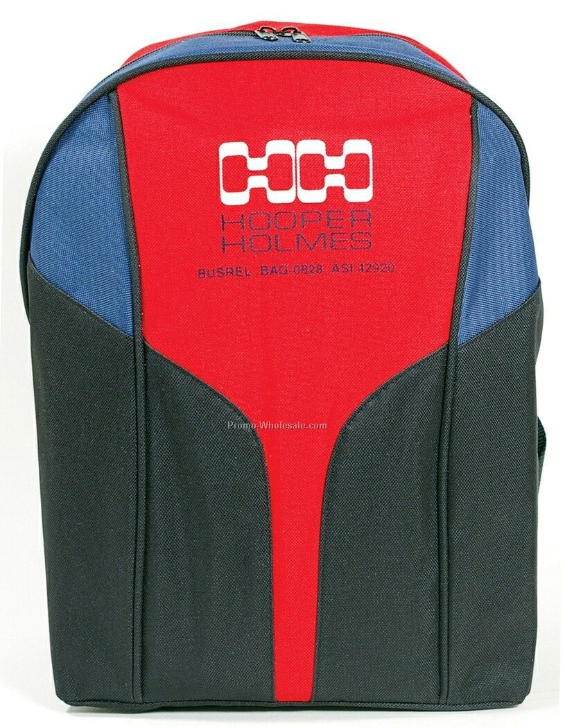 600d Polyester One Zip Backpack W/Pvc Backing