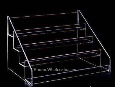 "Acrylic Four-tier Display Rack - 16""x11""x12"" Slatwall"