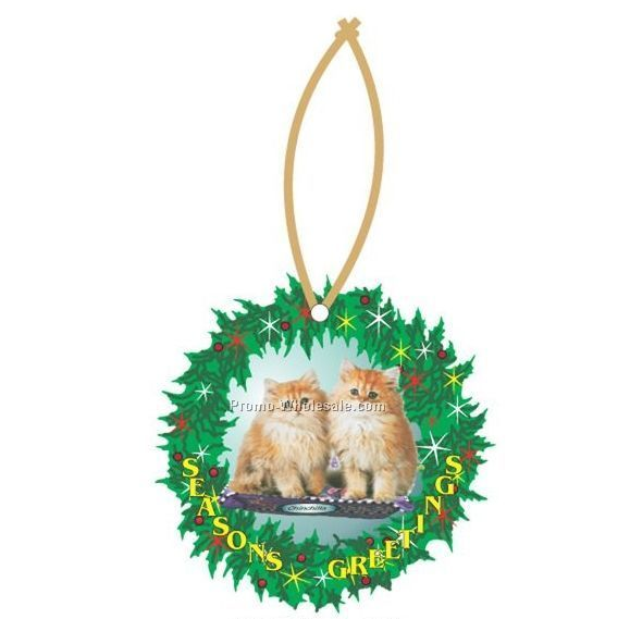 - Chinchilla-Cat-Executive-Line-Wreath-Ornament-W--Mirrored-Back--6-Sq--Inch-_20090778270