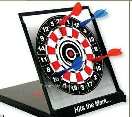 Desktop Magnetic Dartboard W/ 4 Darts
