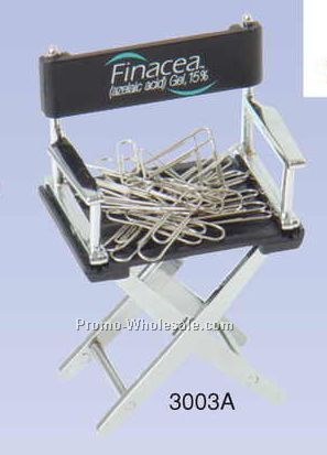 Director Chair Paperclip Holder (Engraved)