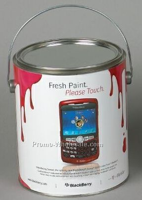 Large clear window tin empty label print wholesale china for 1 gallon clear plastic paint cans