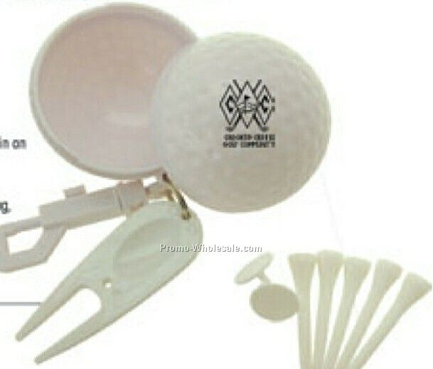 Golf Accessories In Golf Ball Case - Direct Import
