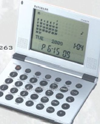 International Data Bank Alarm Clock W/ Calendar/ Calculator/ Converter