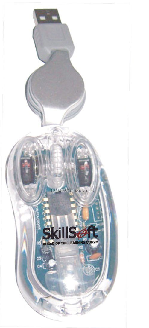 Mini Optical Mouse With Transparent Cable