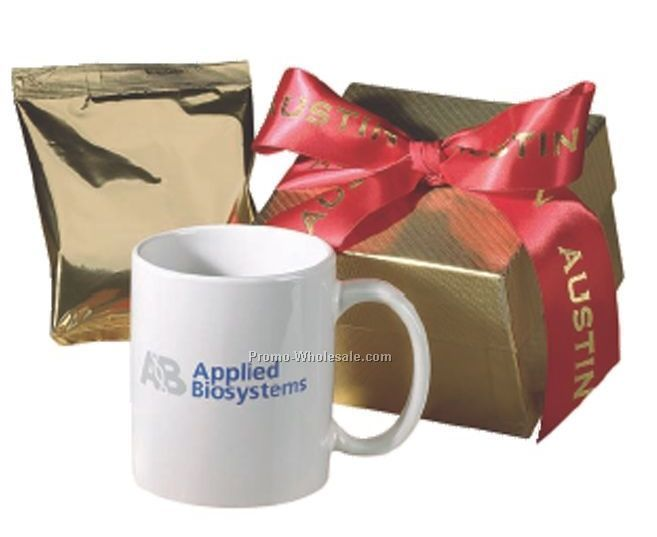 Ovation Ceramic Mug With Hot Chocolate In Gift Box ( 3 Day Shipping)