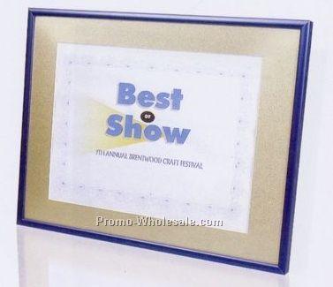 Burgundy Leatherette Certificate Frames W Gold Border