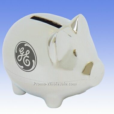 Small piggy bank bright engraved wholesale china - Engraved silver piggy bank ...