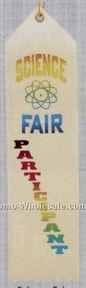 Stock Recognition Ribbon (Pinked) - Science Fair Participant
