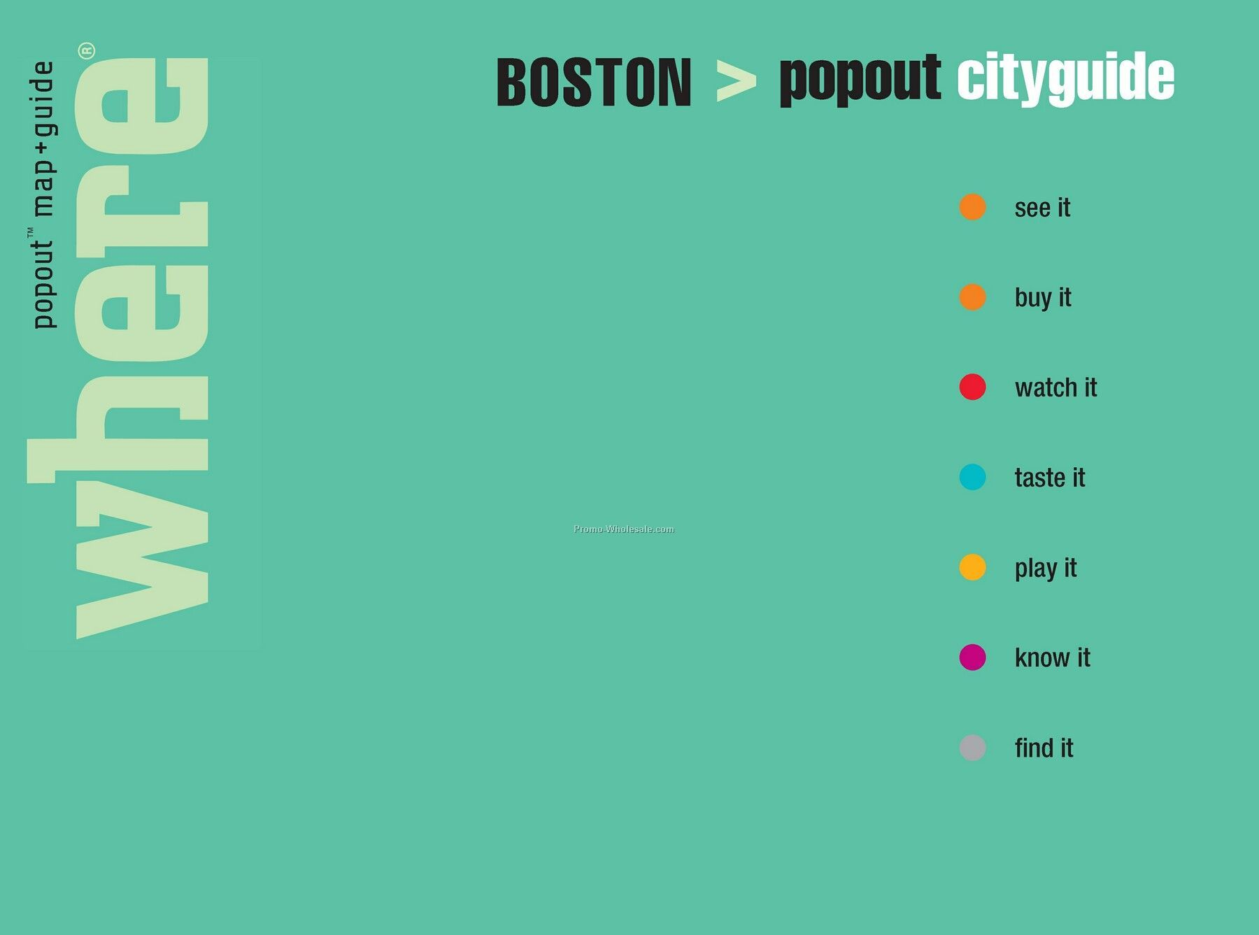 Travel Guides - City Guide Of Boston - Featuring Popout Maps