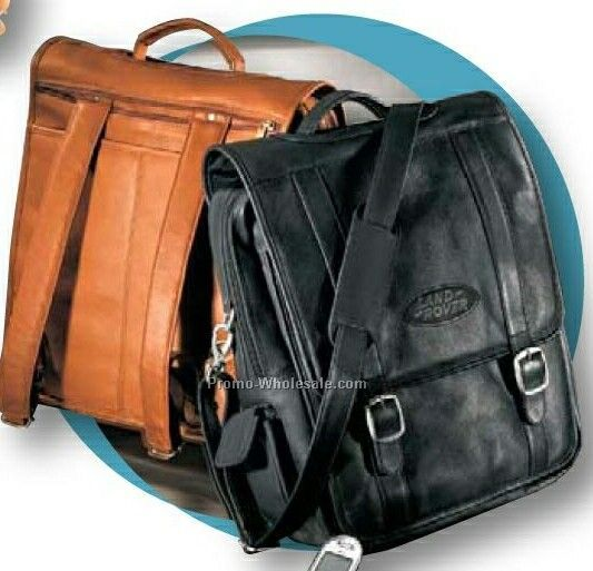 Vaqueta Napa Leather Convertible Backpack/ Briefcase For Laptop
