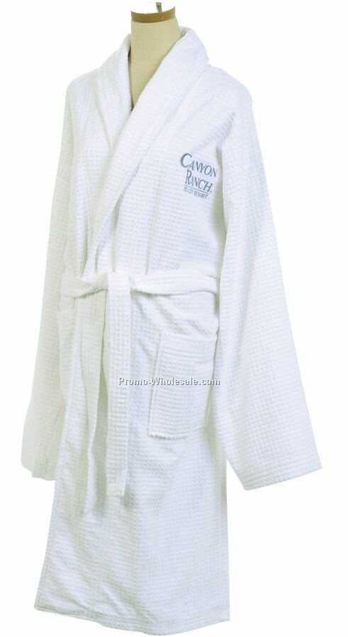 Velour Checkered Robe (Embroidered)