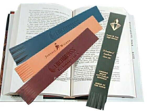 "1-1/2""x9"" Leather Bookmark"