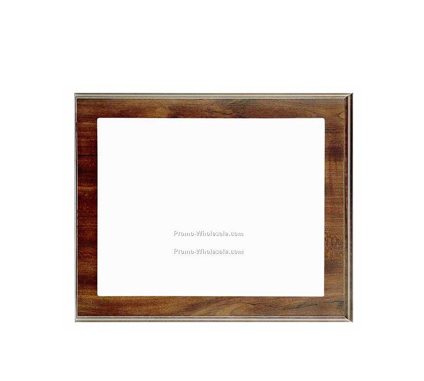 "10"" X 12"" Slide-in Frame Cherry Finish Plaque W/ 8"" X 10"" Window"