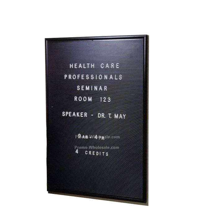 "24""x36"" Big Board (Black Frame, Black Panel)"