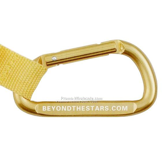 "3-1/4""x1-1/2"" Laser Engraved Mini Carabiner W/ Compass"