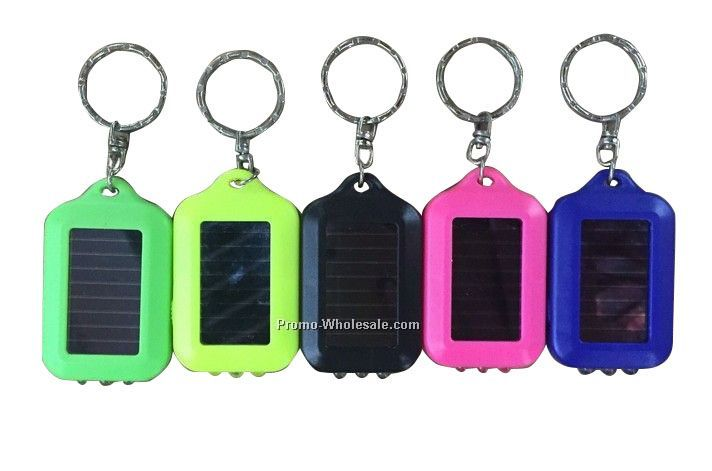 3 LED solar Keychain,Solar LED flashlight,LED key lamp