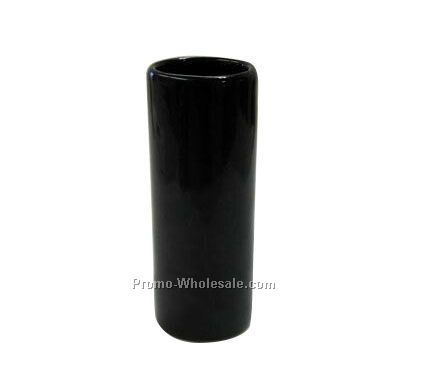 3 Oz. Black Ceramic Shooter/Shot Glass