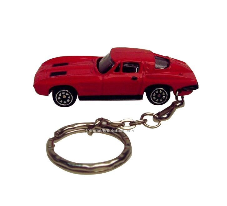 "3""x1-1/4""x1-1/4"" Race Car Keychain"