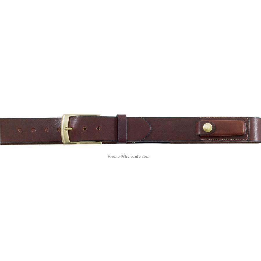 35mm English Bridle Leather Knife Belt